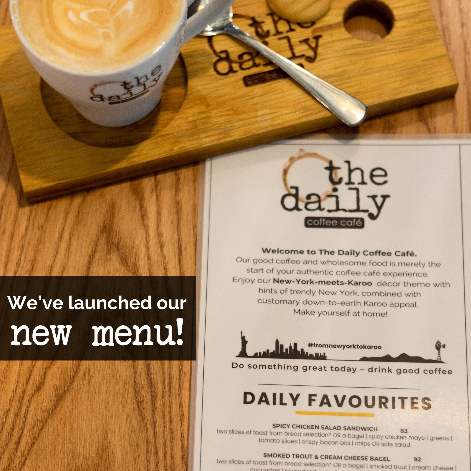 A New Menu The Daily Coffee Cafe
